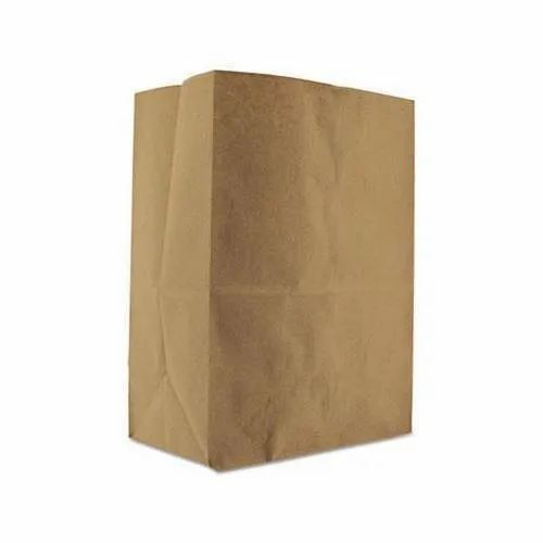 Plain Brown Handmade Paper Grocery Bag, Capacity: 1 - 5 Kg