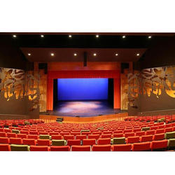 White Theater Stage Lighting And Stage Furnishing Services