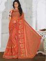 Printed Georgette Bhagalpuri Silk Saree