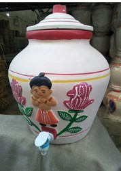 Dharam White Pots Manufacturer Of Design Clay Pot Printed From Thangadh