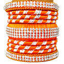 Orange Handmade Bangle Set