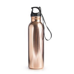 Pure Copper Water Bottle With Grip Handle