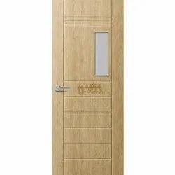 Wooden Bathroom Door With Glass