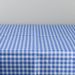 Blue Checked Table Cloth