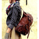 Leather Travel Backpack Bag