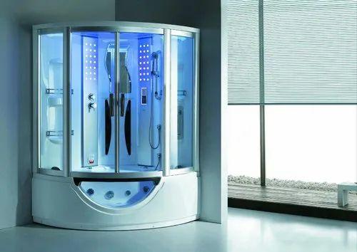 Steam Cabin With Massage Tub Concept