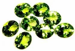 Peridot Faceted Oval Cut Gemstone