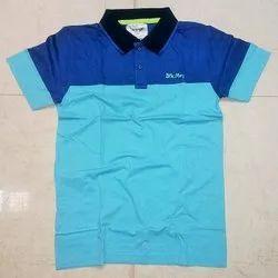Plain Polo Neck Men Cotton Collar T-Shirt, Size: S-XXL