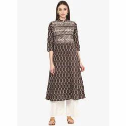 0b8efc53bfb Ladies Cotton Printed Casual Wear Kurti