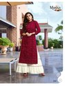 Manas Lucknowi Fancy Top With Bottom Lucknowi Work Collection