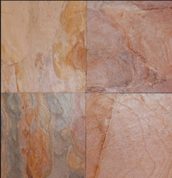 Flooring Raja Red Slate Stone, Thickness: 10-20mm