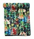Frida Kahlo Printed Cotton Quilt Handmade Bed Cover Cotton Kantha Blanket
