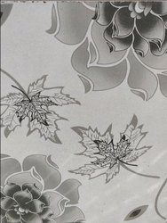 Flower Design Decorative Window Laminated Glass, For Home, Thickness: 12 Mm