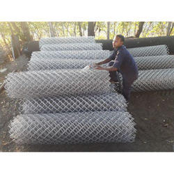 MS And Stainless Steel Wires Chain Link Fencing