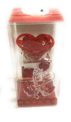 Glass Showpiece, For Valentine Day Gift, Box