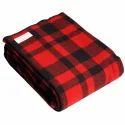 Pp Bag Checkered Woolen Blanket