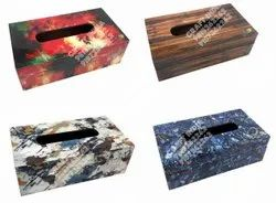 MDF PRINTED TISSUE BOX