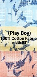 Cotton Printed Shirting Fabric (Play Boy)