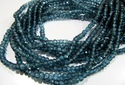 Blue Topaz Rondelle Faceted Beads