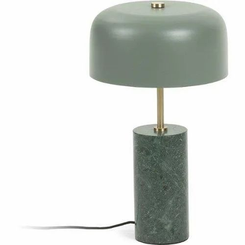 Marble lamp stand, Base Colour: Green