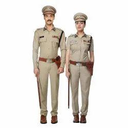 Unisex Cotton Police Uniform fabric