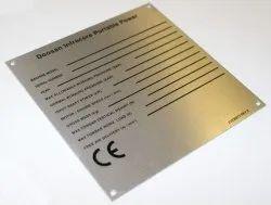 Die Cutting Brass Nameplates