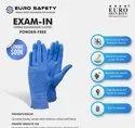 Blue Nitrile Gloves Powder Free Gloves, Sizes: 9 Inches