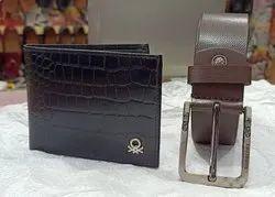 Male Formal Pure Genuine Leather Belt , Wallet, Card Slots: 6