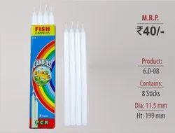 Plain Candles 6.0-08-L