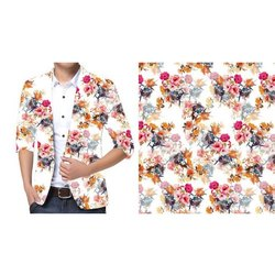 Cotton Regular Fit Printed Shirts, Size: 40, 42