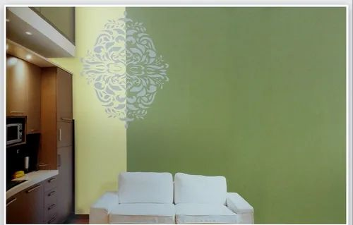 Monarchy Wall Stencil Painting Design Service At Rs 45 Square Feet Contract Painting Contract Painting Services Home Wall Painting House Wall Painting Pu Wall Painting Texture Painting Designs Service