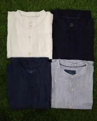 Linen Collar Neck Mens Shirts