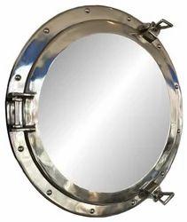 Oval Pivot Mirror Nickel Marine Porthole
