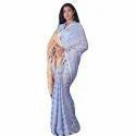 Ladies Designer Linen Saree