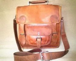 Buckle Closure Leather Shoulder Bag