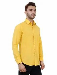 Mustard Colour Formal Mens Shirt