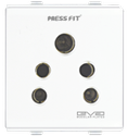 Press Fit - Edge 6 Amp. 2-in-1 Socket