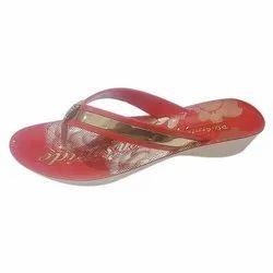 Ladies Designer Rubber Slipper, Size: 4 To 8