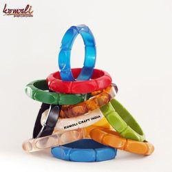 Bamboo Design Carved Handmade Vintage Design Bakelite Bangle Bracelet Jewelry