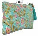 Cotton Hand Printed Clutch Bags Wristlets India B7B