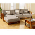 Neptune Enterprises Wood L Shape Sofa, Warranty: 5 Years, For Home And Hotel