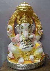 Marble Ganesh Lakshmi Statue In Maharashtra