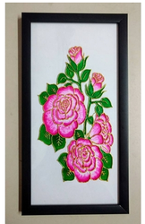 Glass Painting Pink Roses
