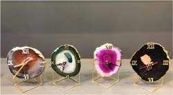 Casa Arte Agate Table Clock, Size: 6-8 inch