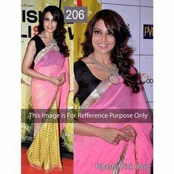 Bollywood Chiffon Pink Saree