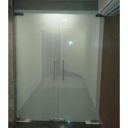 3x7 Feet Transparent Designer Door Glass