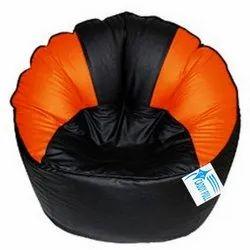 Caddy Black Orange Muddha Bean Bags
