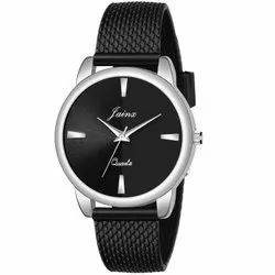 Jainx Black Mesh Band Analog Watch For Women And Girls - JW654