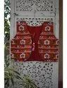 Red Kutch Digital Embroidery Jacket