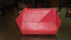 Red Leather Women Sling